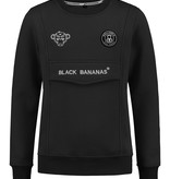 Black Bananas Black Bananas Anorak Crewneck Black FW19005