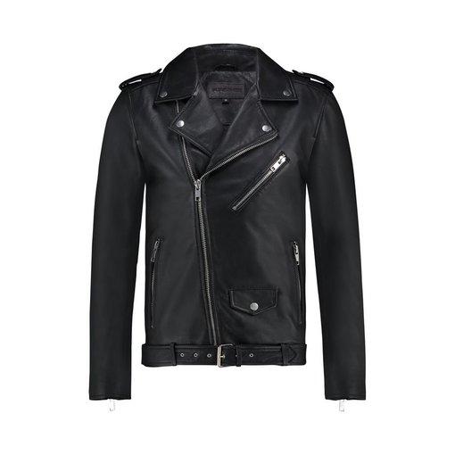 Purewhite Purewhite Classic Leather Biker Jacket Black