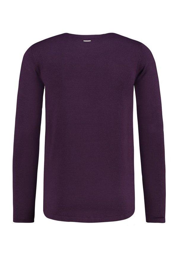 Purewhite Sweater Aged Burgundy 19030818