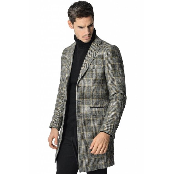 Yclo Carston Coat Checkered
