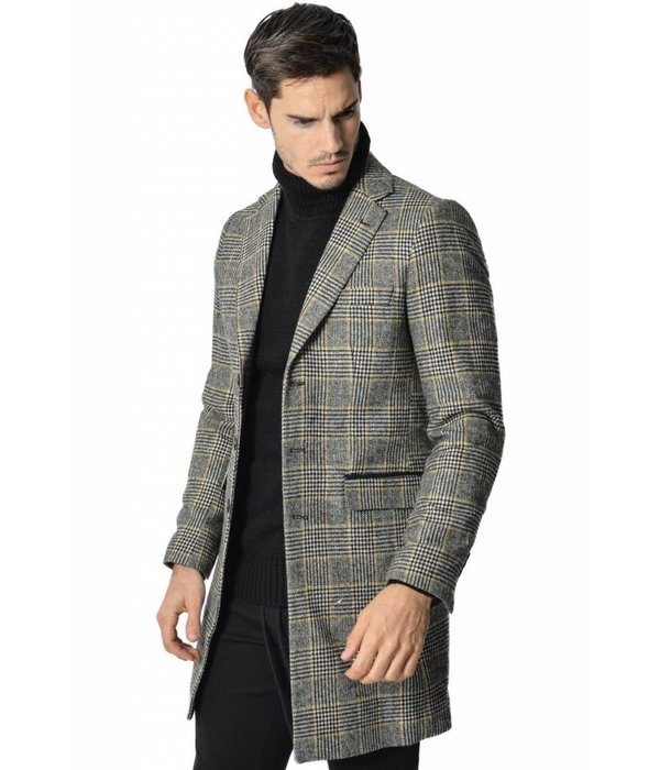 YCLO Yclo Carston Coat Checkered