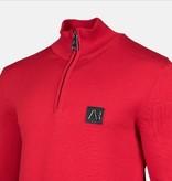 AB-Lifestyle AB Half Zip Tricot Sweater Rood