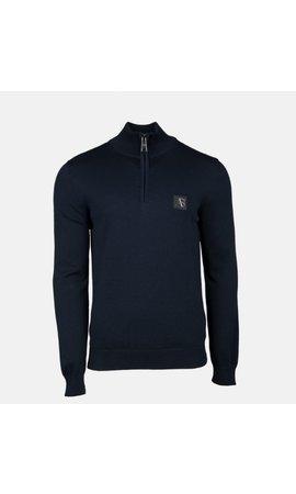 AB-Lifestyle AB Half Zip Tricot Sweater Navy