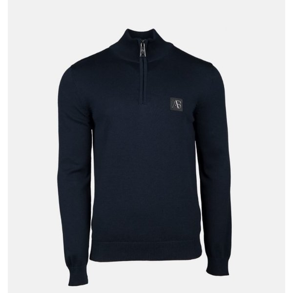 AB Half Zip Tricot Sweater Navy