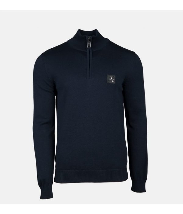 AB-Lifestyle AB Half Zip Tricot Sweater Navy