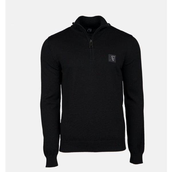 AB Half Zip Tricot Sweater Zwart