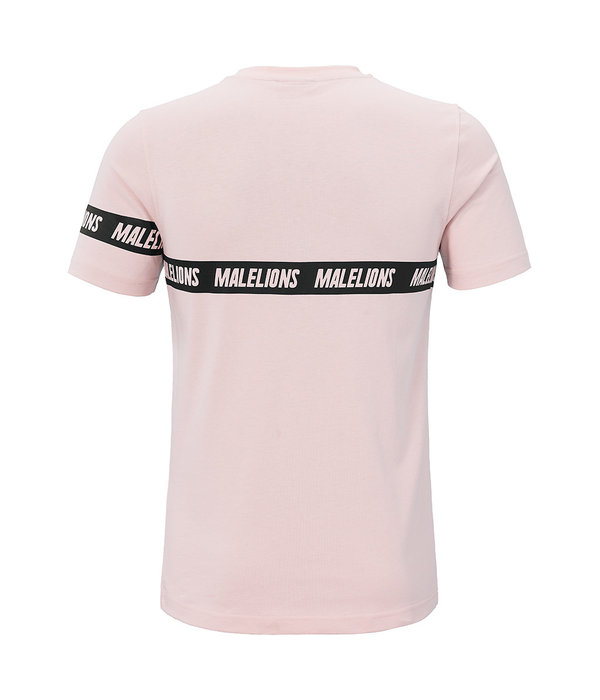Malelions Malelions T-shirt Karim Pink/White