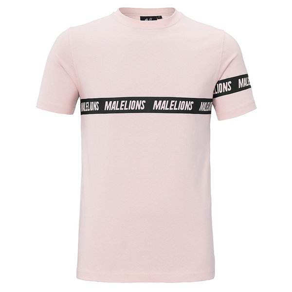Malelions T-shirt Karim Pink/White