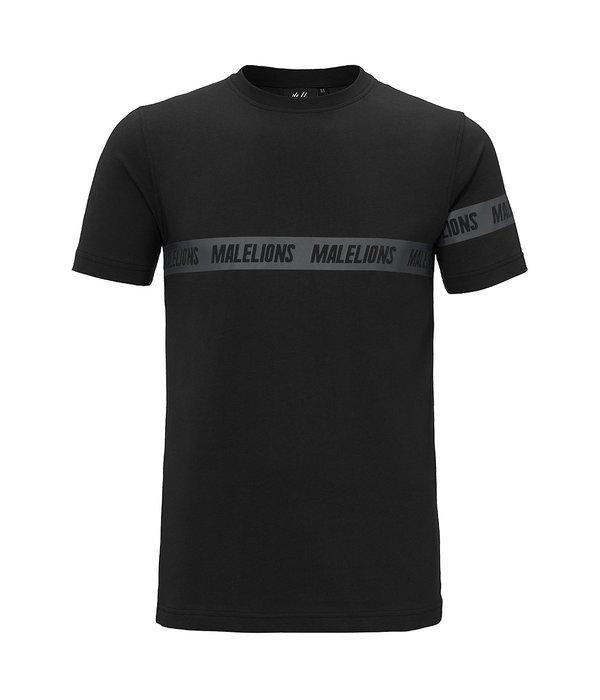 Malelions Malelions T-shirt Karim Black/Black