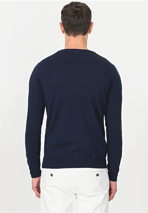 AM Basic Sweater Navy MMSW00974