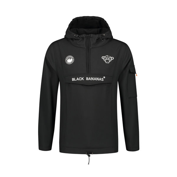 Black Bananas Anorak Fleece Jacket Black