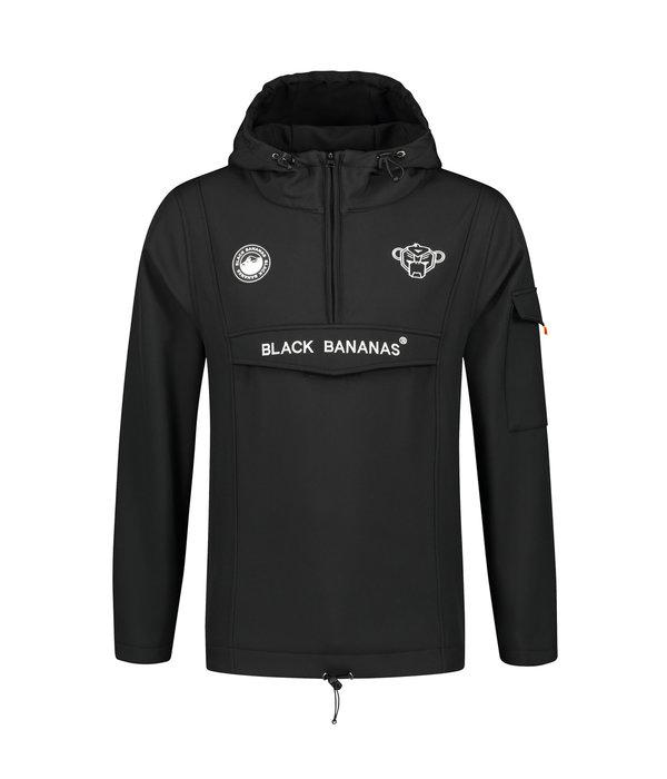 Black Bananas Black Bananas Anorak Fleece Jacket Black