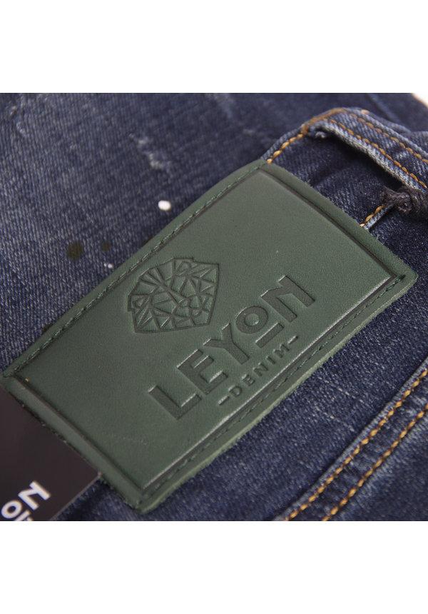 Leyon Denim Navy Spotted White/Black Jeans 1824