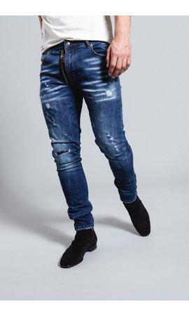 My Brand My Brand Dark Blue Base Zipper Jeans G3136