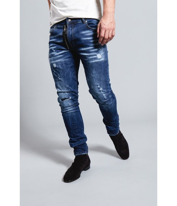 My Brand My Brand Dark Blue Base Zipper Jeans G3136