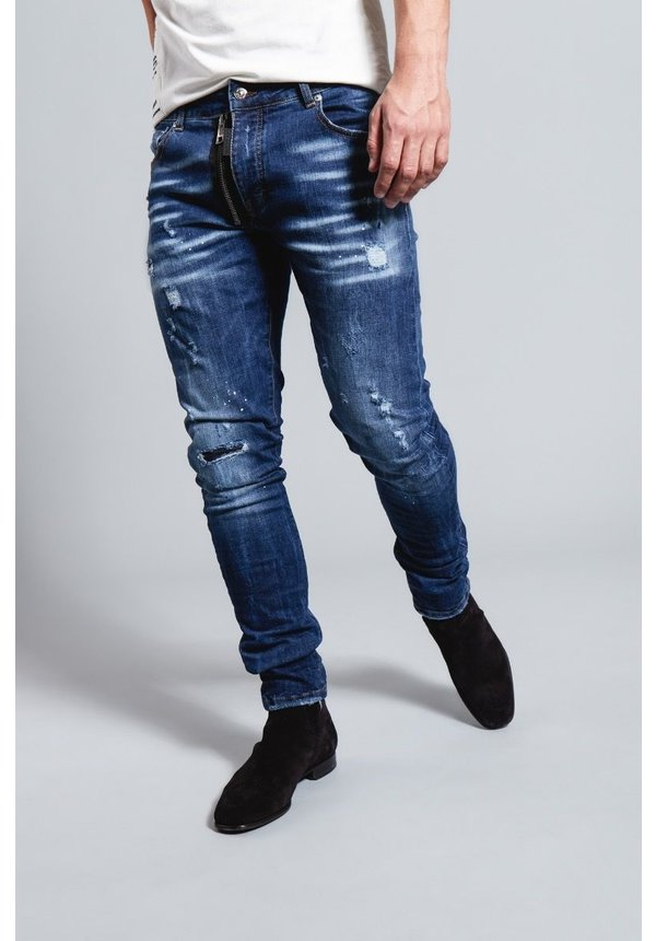 My Brand Dark Blue Base Zipper Jeans G3136