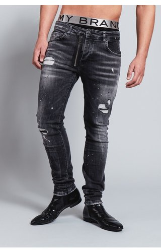 My Brand My Brand Dark Grey Base Zipper Jeans