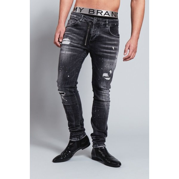 My Brand Dark Grey Base Zipper Jeans