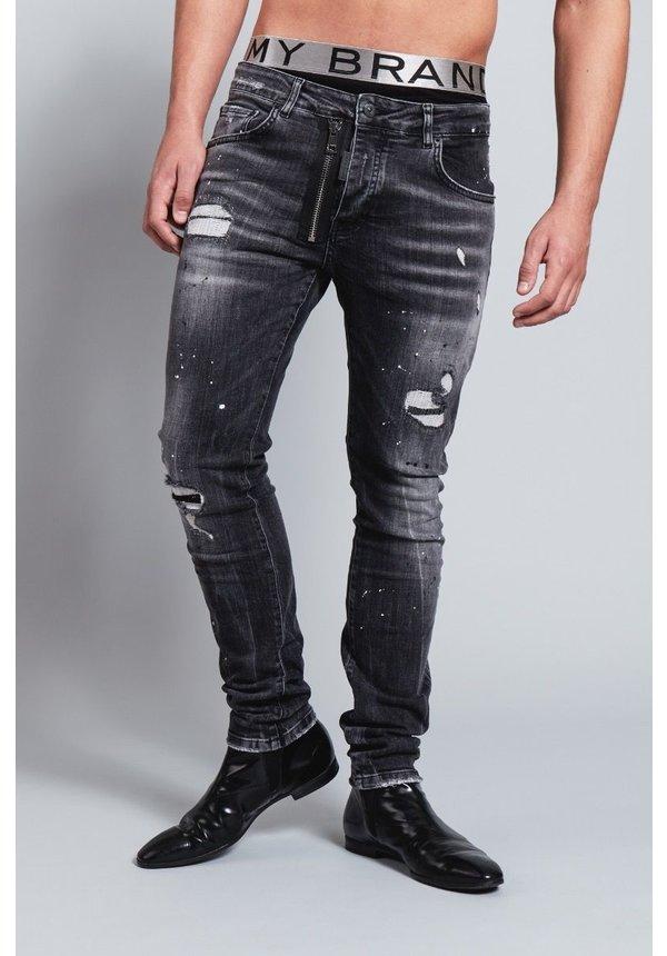 My Brand Dark Grey Base Zipper Jeans
