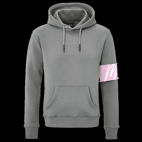 Malelions Hoodie  Matt Grey/Pink