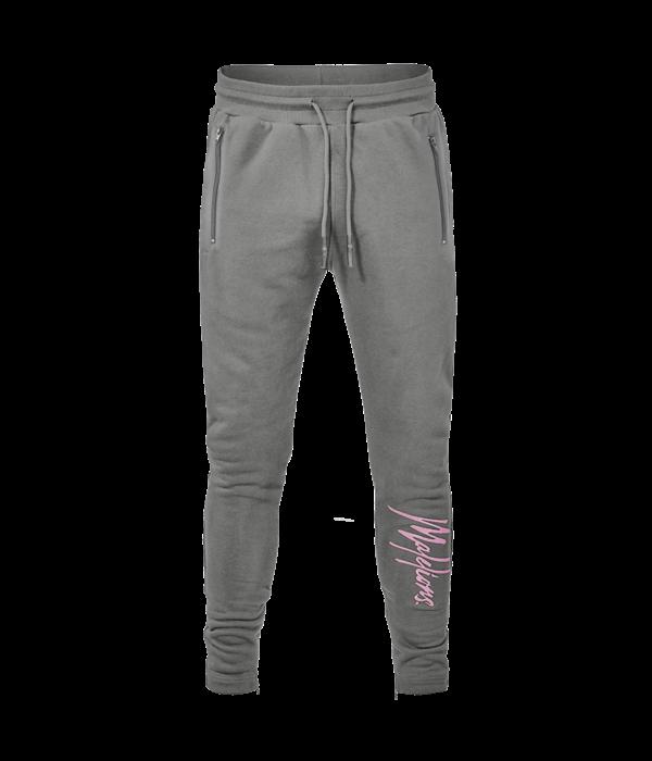 Malelions Malelions Trackpants Signature matt Grey/ Pink