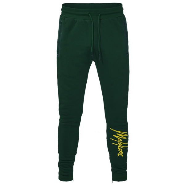 Malelions Trackpants Signature Army/Yellow