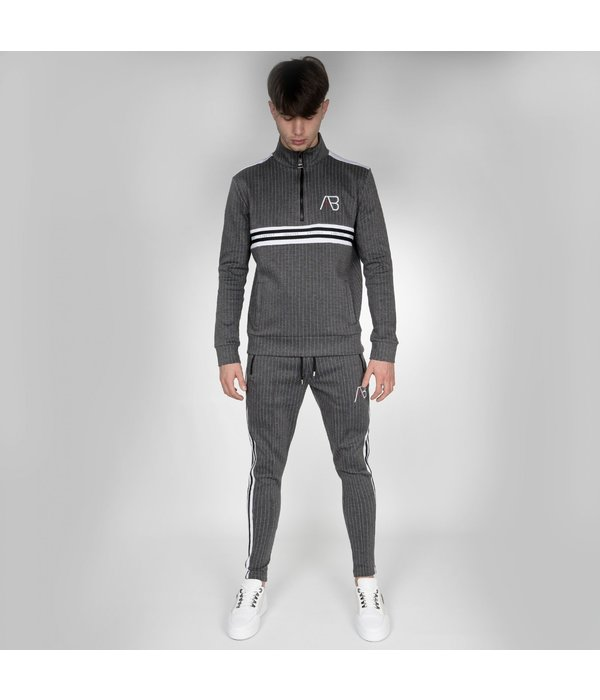AB-Lifestyle AB Lifestyle AB Striped Track Jacket  Grey
