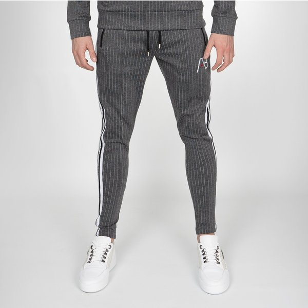 AB Lifestyle AB Striped Track Pants Grey