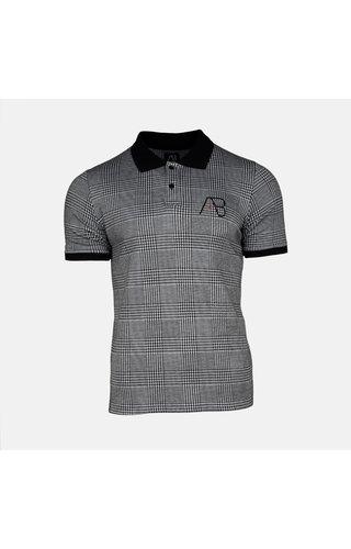 AB-Lifestyle AB Lifestyle AB Check Polo Black White