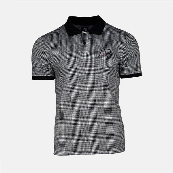 AB Lifestyle AB Check Polo Black White