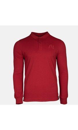 AB-Lifestyle AB Lifestyle AB Polo Long Sleeve Bordeaux