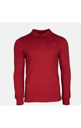 AB-Lifestyle AB Lifestyle AB Polo Long Sleeve Bordeaux