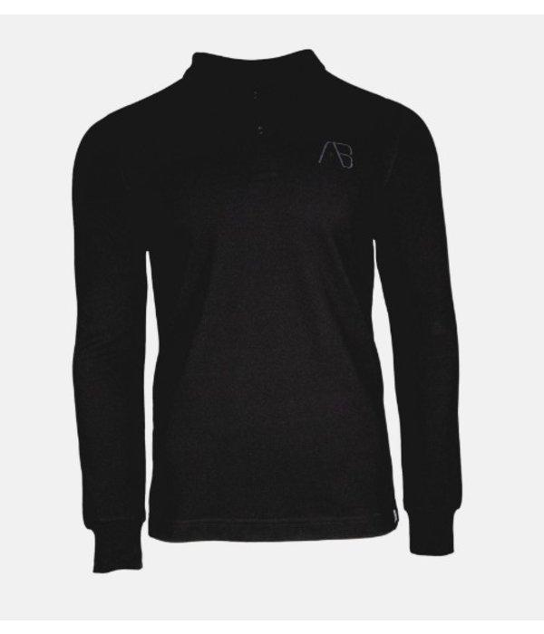 AB-Lifestyle AB Lifestyle AB Polo Long Sleeve Black