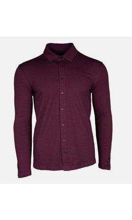 AB-Lifestyle AB Lifestyle Button Up Shirt Bordeaux