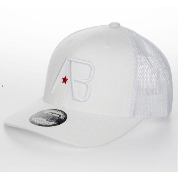 AB Lifestyle Retro Trucker Cap White On White