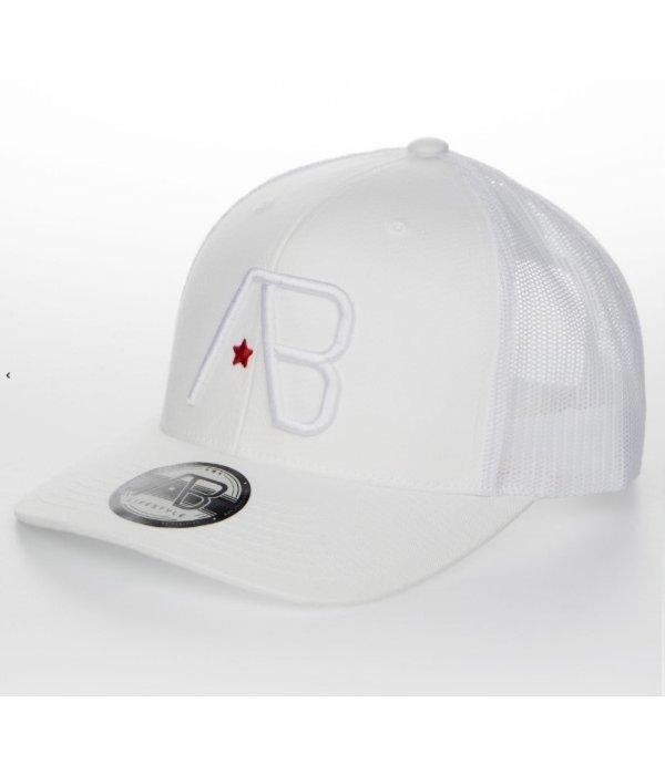 AB-Lifestyle AB Lifestyle Retro Trucker Cap White On White