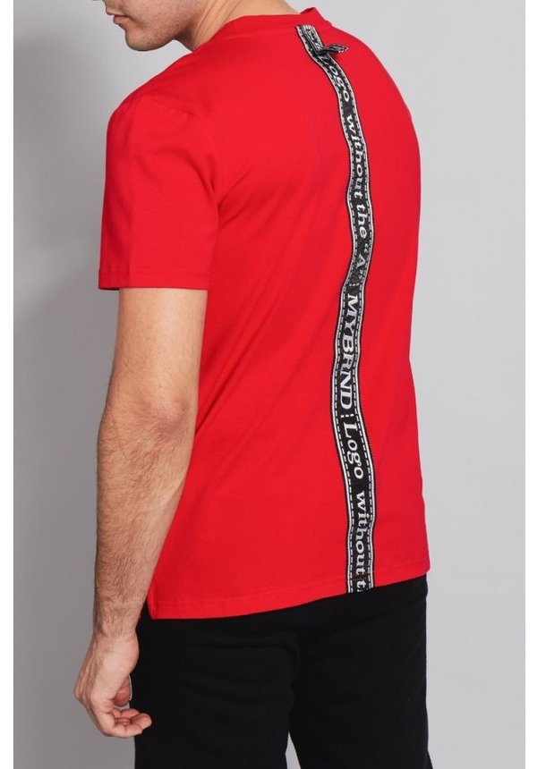 My Brand Tape Low T-Shirt Red