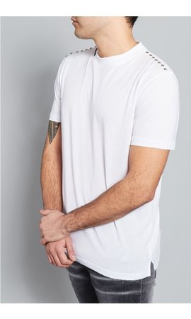 My Brand My Brand Stud Shoulder T-Shirt White