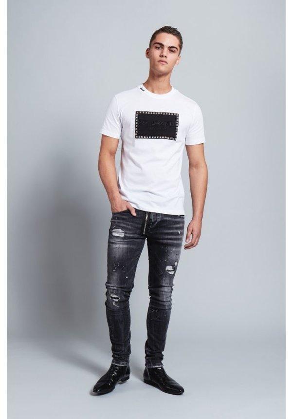 My Brand Stud Badge T-Shirt White
