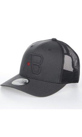 AB-Lifestyle AB Lifestyle Retro Trucker Cap Black on Dark Grey