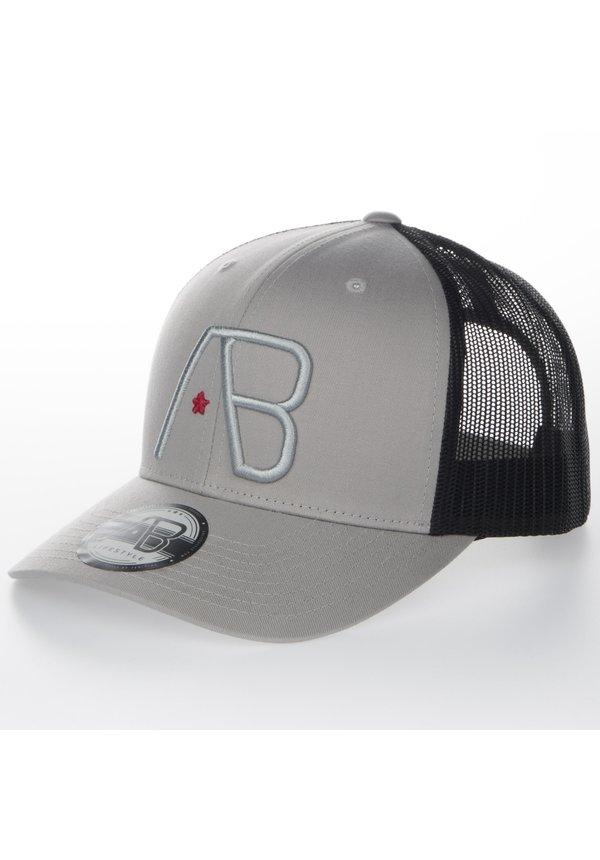 AB Lifestyle Retro Trucker Cap Black on Silver
