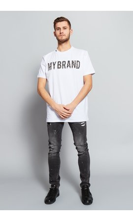 My Brand My Brand Stud Logo T-shirt White