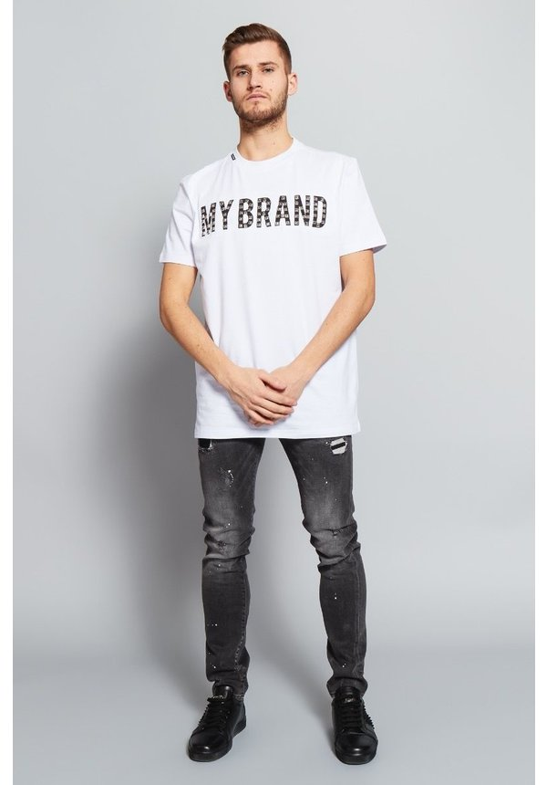 My Brand Stud Logo T-shirt White