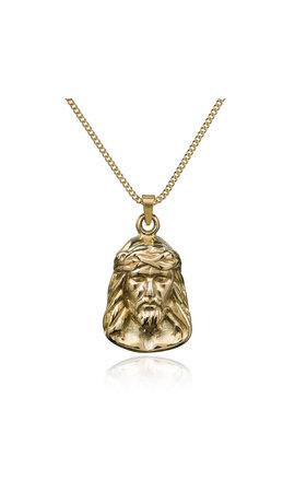 Croyez Croyez Layerup set Jesus w/round Boxcain 14k gold