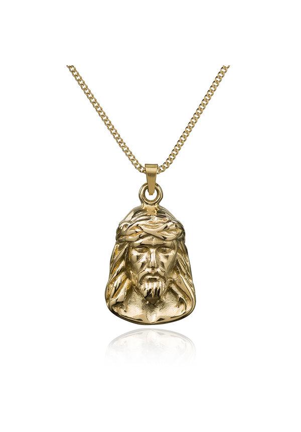 Crozey Layerup set Jesus w/round Boxcain 14k gold