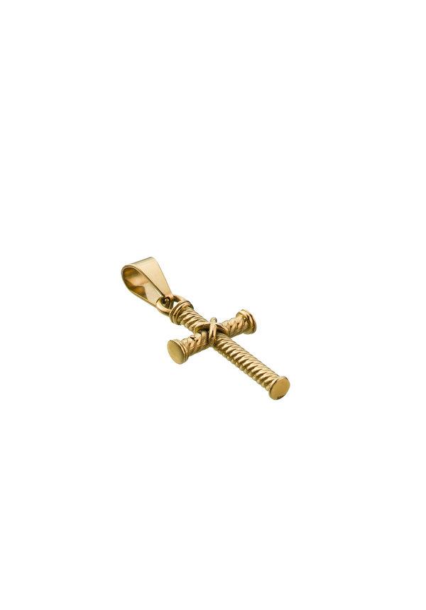 Croyez Cross W / Round Boxchain 14K Gold
