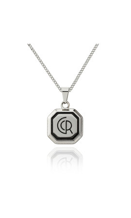 Croyez Crozey Logo W / Round Boxchain Sterling silver