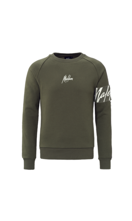 Malelions Malelions Crewneck Captain Army/Off-white