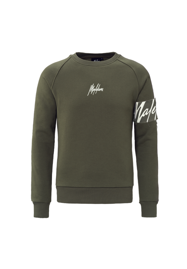 Malelions Crewneck Captain Army/Off-white