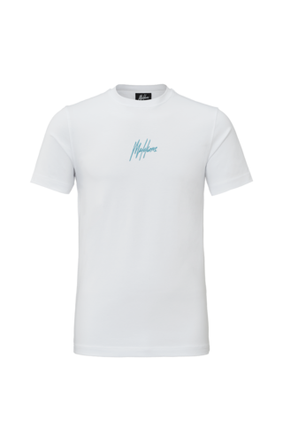 Malelions Malelions T-Shirt Double Signature White